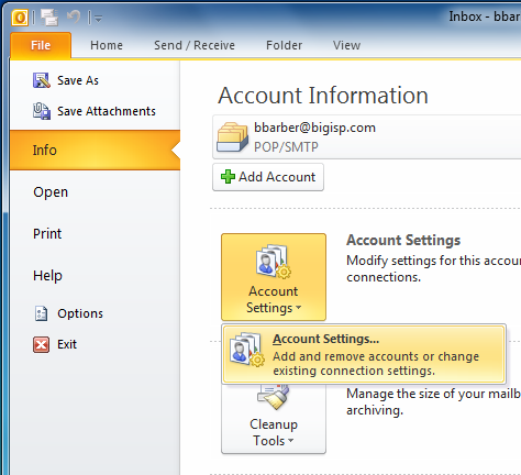 how to add extra email account to outlook