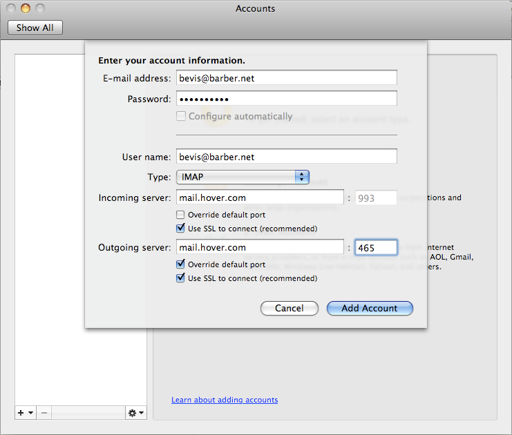 mac mail how to change from pop3 to imap